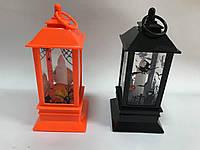 Светодиодный фонарь на Хэллоуин с привидениями, крестами, паутиной 20 см