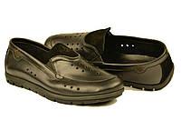 Макасины  туфли мужские летние из натуральной кожи со вставками с перфорацией 40 KARMEN арт 852018