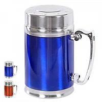 Термокружка (термочашка) металлическая для напитков  380мл Stenson (WHW14076-4)