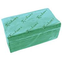 Полотенца бумажные Кохавинка, Z-сложение, 200 шт., зеленые