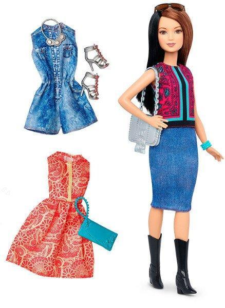 Barbie Барби Модница с набором одежды Fashionistas Fashions Pretty In Paisley