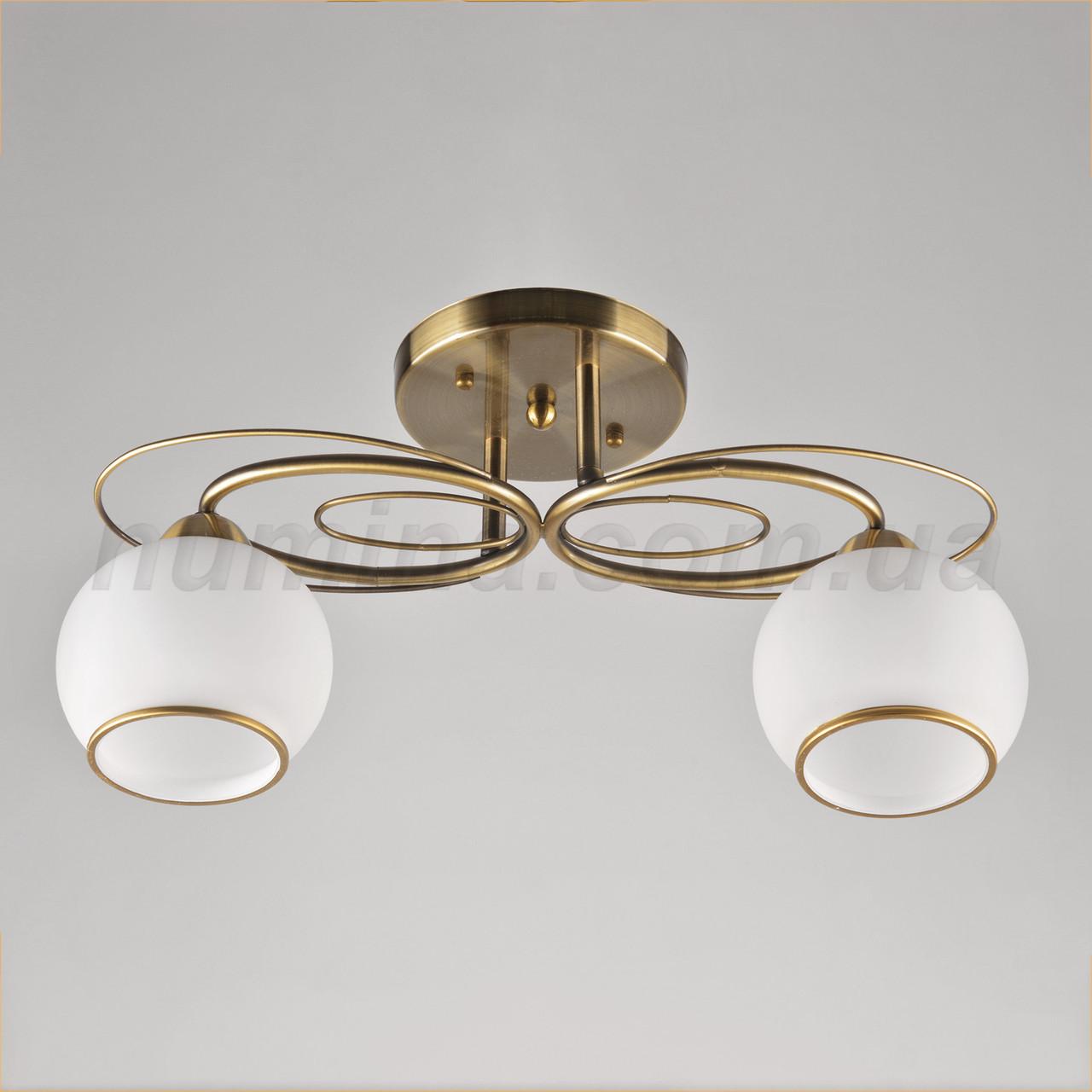 Люстра потолочная на две лампы 14-1209/2A AB