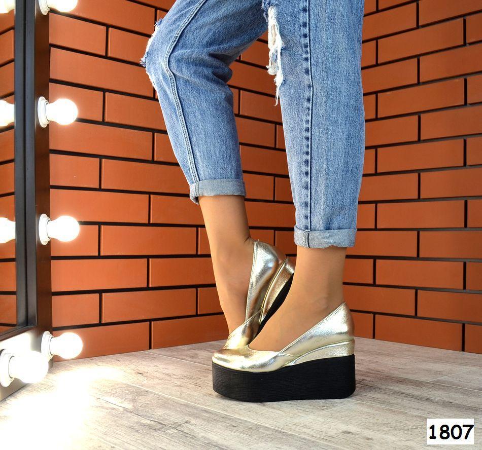 Женские Туфли на платформе Натуральная кожа. Размер 36 40