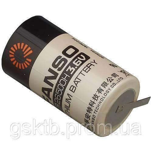 Літієва батарея ER26500H-T C Size 3,6 В 9000 мАч, Li-SOCl2, з пелюстками