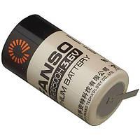 Литиевая батарея ER26500H-T C Size 3,6В 9000 мАч, Li-SOCl2, с лепестками