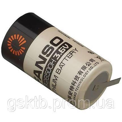 Літієва батарея ER26500H-T C Size 3,6 В 9000 мАч, Li-SOCl2, з пелюстками, фото 2
