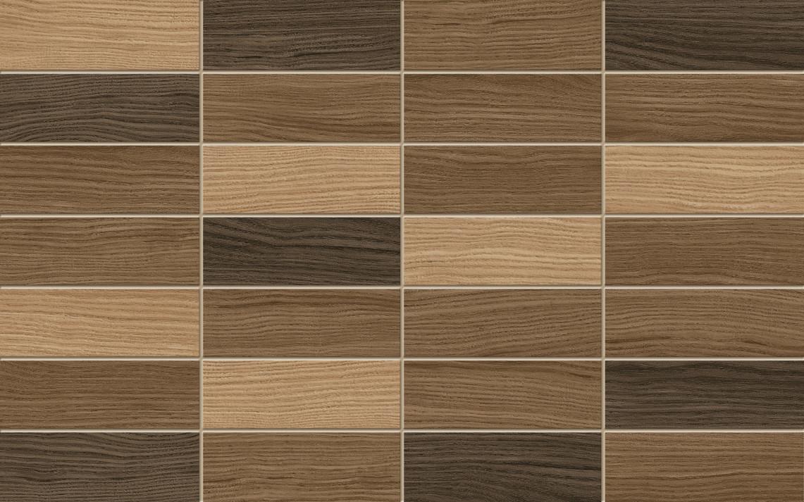 Плитка для стін Karelia Mosaic коричневий 250x400x8 мм
