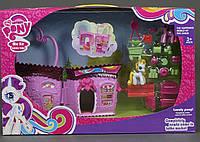 Игровой набор домик Пони 737 / Раскладной домик-магазин с аксессуарами и 2 фигурками пони