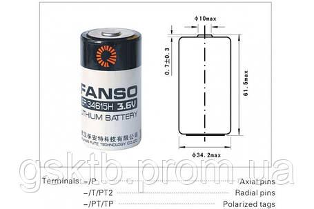 Литиевая батарея ER34615H 3,6В 20000 мАч, D Size, Li-SOCl2, фото 2