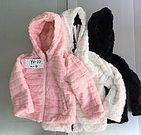 Двусторонние куртки на меху для девочек Taurus 4-12 лет