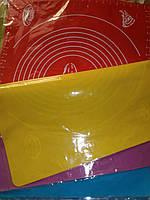 Коврик силиконовый для мастики и выпечки  с разметками большой 48*38