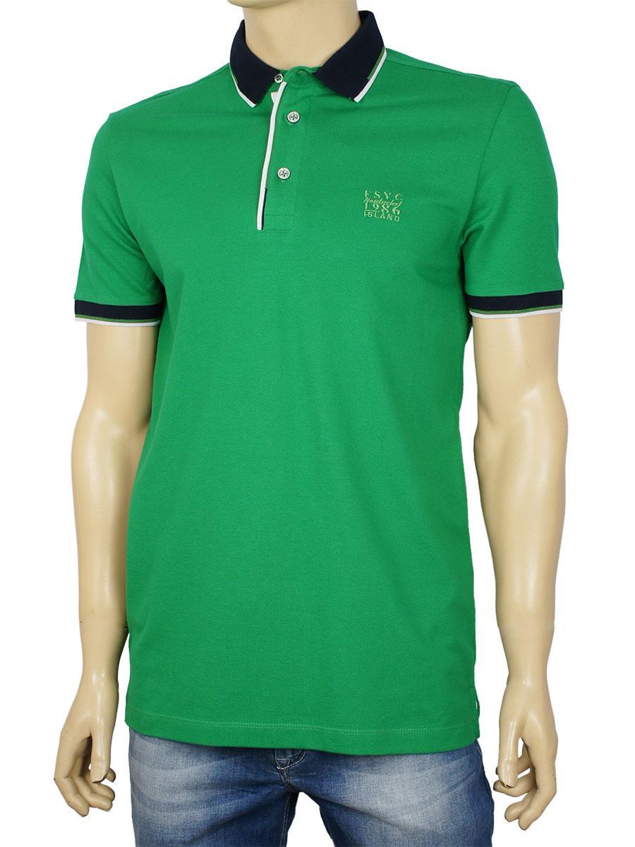 Чоловіча теніска в зеленому кольорі Fabiani 22273 Green