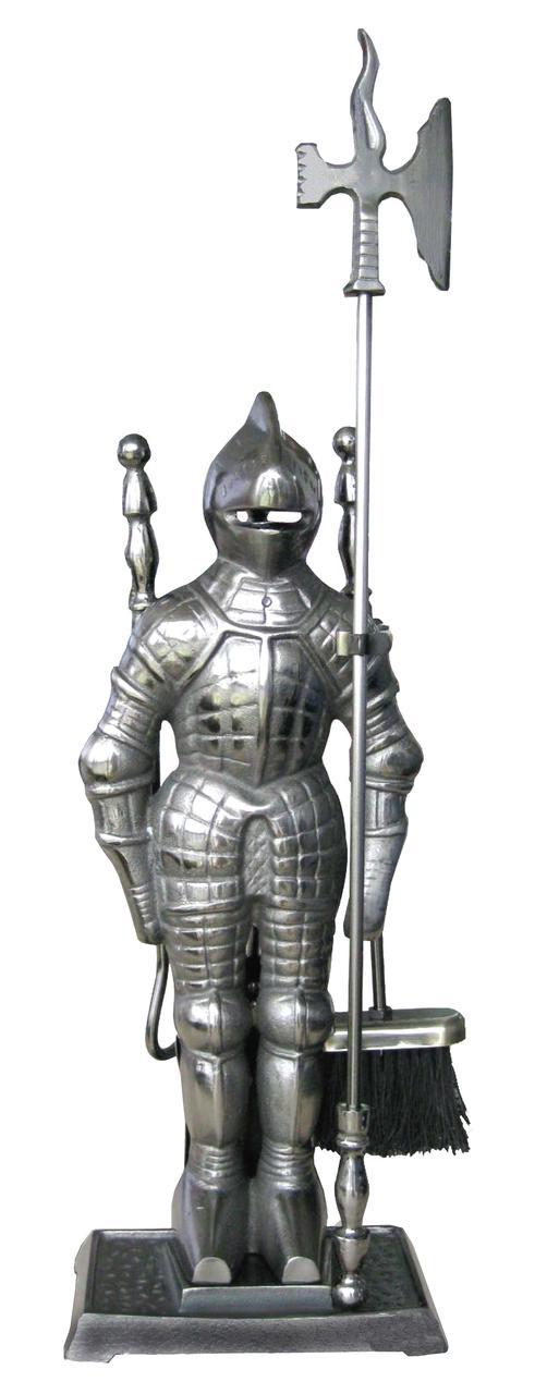 Каминный набор  Рыцарь серебро