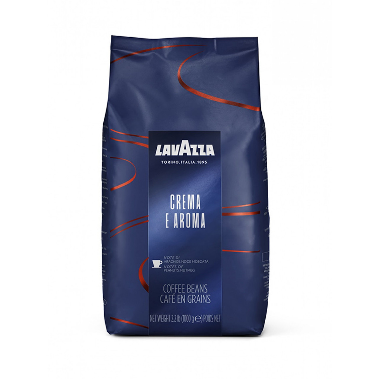Кава зерно Lavazza Crema e Aroma Espresso (синя) , Італія, 1 кг(ОРИГІНАЛ)
