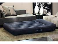 Надувная велюровая кровать матрас 66770 Intex (203x183x30см)