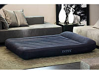 Надувная велюровая кровать матрас 66770 Intex (203x183x30см), фото 1