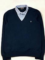 Школьный джемпер-обманка для мальчика Gegisa, темно-синий 8153 (р.158,164,170)