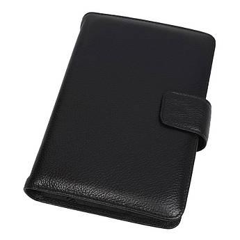 Шкіряна чоловіча обкладинка для щоденника Canpellini 551 black