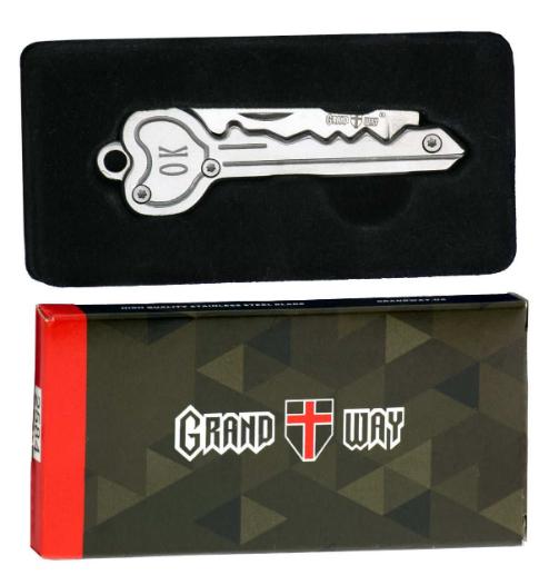Нож складной, ножик-брелок, с металлической рукояткой, приспособление, которое можно носить с ключами