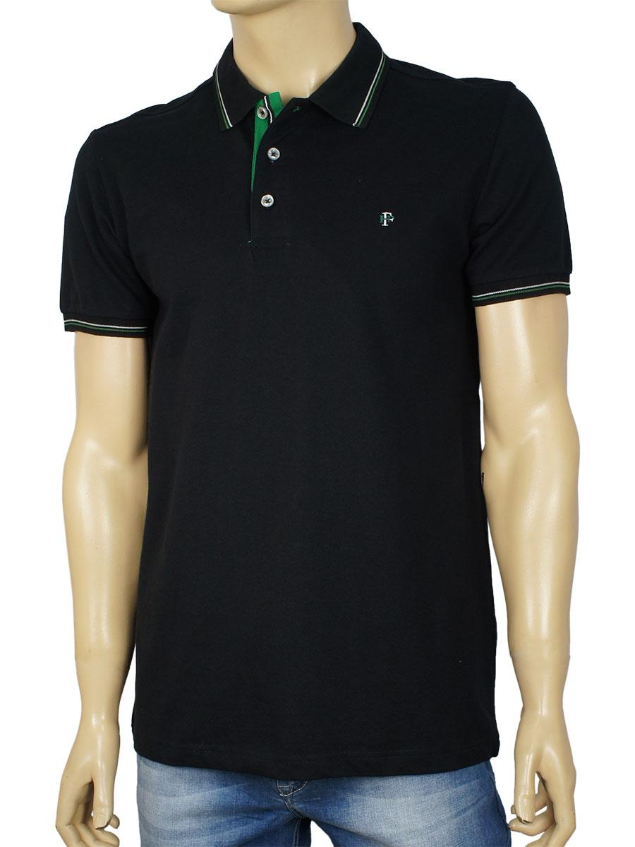 Чоловіча теніска чорного кольору Fabiani 22226 Black