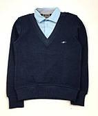 Школьный джемпер-обманка для мальчика Gegisa, темно-синий 7994 (р.116,122)