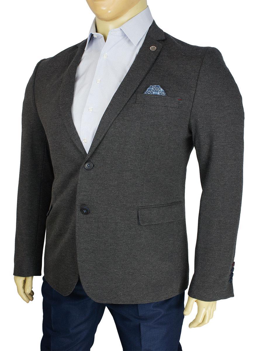 Чоловічий стильний піджак AIX Code: TR-34105 в сірому кольорі