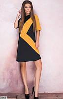 Женское красивое платье двухцветное джерси 42-58 размеров, 2 цвета