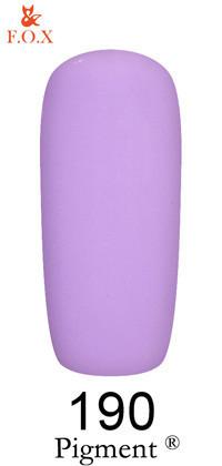 Гель-лак для ногтей F.O.X Pigment №190, 6мл