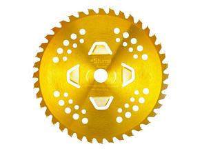 Диск к триммеру 4 лепестка, 255мм 40 зубьев (золотой цвет) Sturm BTA002