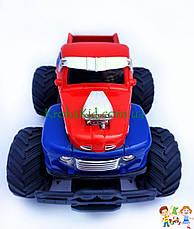 Джип на радиоуправлении, пикап на аккумуляторе, резиновые колеса, масштаб 1:22 YD898-MT1956 (Синий с красным), фото 3