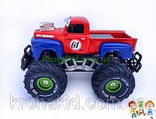 Джип на радиоуправлении, пикап на аккумуляторе, резиновые колеса, масштаб 1:22 YD898-MT1956 (Синий с красным), фото 2