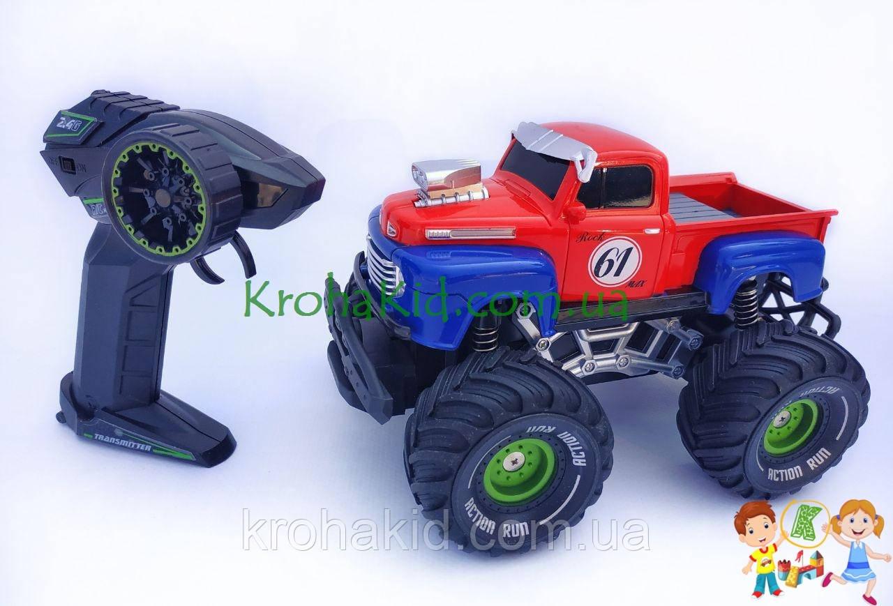 Джип на радиоуправлении, пикап на аккумуляторе, резиновые колеса, масштаб 1:22 YD898-MT1956 (Синий с красным)
