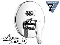 Смеситель для душа с переключателем встраиваемый скрытого монтажа Aqua-World СМ35Ад.14.2в