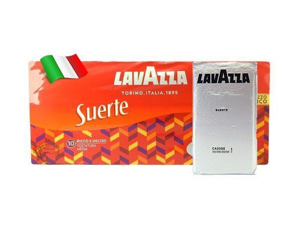 Молотый итальянский Кофе Lavazza Suerte 90% Робуста и10% Арабика, 250г в вакуумной упаковке