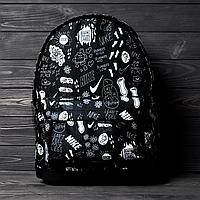 Рюкзак Nike принт черный