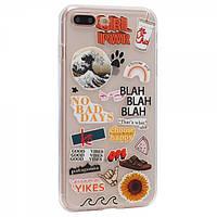 Чехол TTech Stickers TPU Series для Apple iPhone 7 Plus/8 Plus Design 12 Transparent