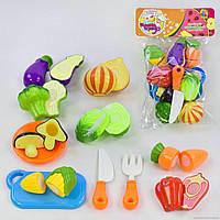 Игровой набор продуктына липучке Хороший повар - овощи 8 штук, досточка, нож,1033