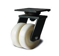 Колеса сдвоенные поворотные 31 25x2 200 ШТ в сдвоенном сверхусиленном кронштейне