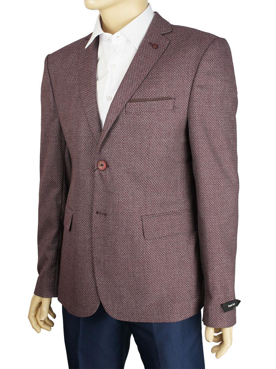 Хлопковый мужской пиджак Daniel Perry C-NAPOLI #Bordo в бордовой расцветке