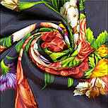 Итальянский полдень 1281-18, павлопосадский платок (атлас) шелковый с подрубкой, фото 5