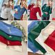 Женская трикотажная кофта с отделкой из люрекса синяя, бордо, зеленая, фото 4