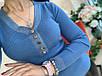 Женская трикотажная кофта с отделкой из люрекса синяя, бордо, зеленая, фото 7