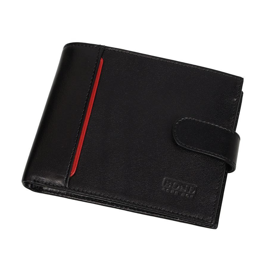 Стильный мужской кожаный кошелек Bond 582-1 black
