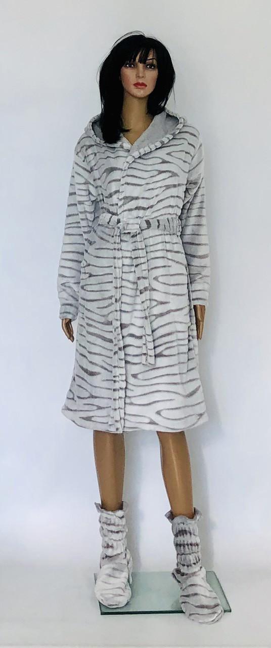 Короткий халат Шиншилла