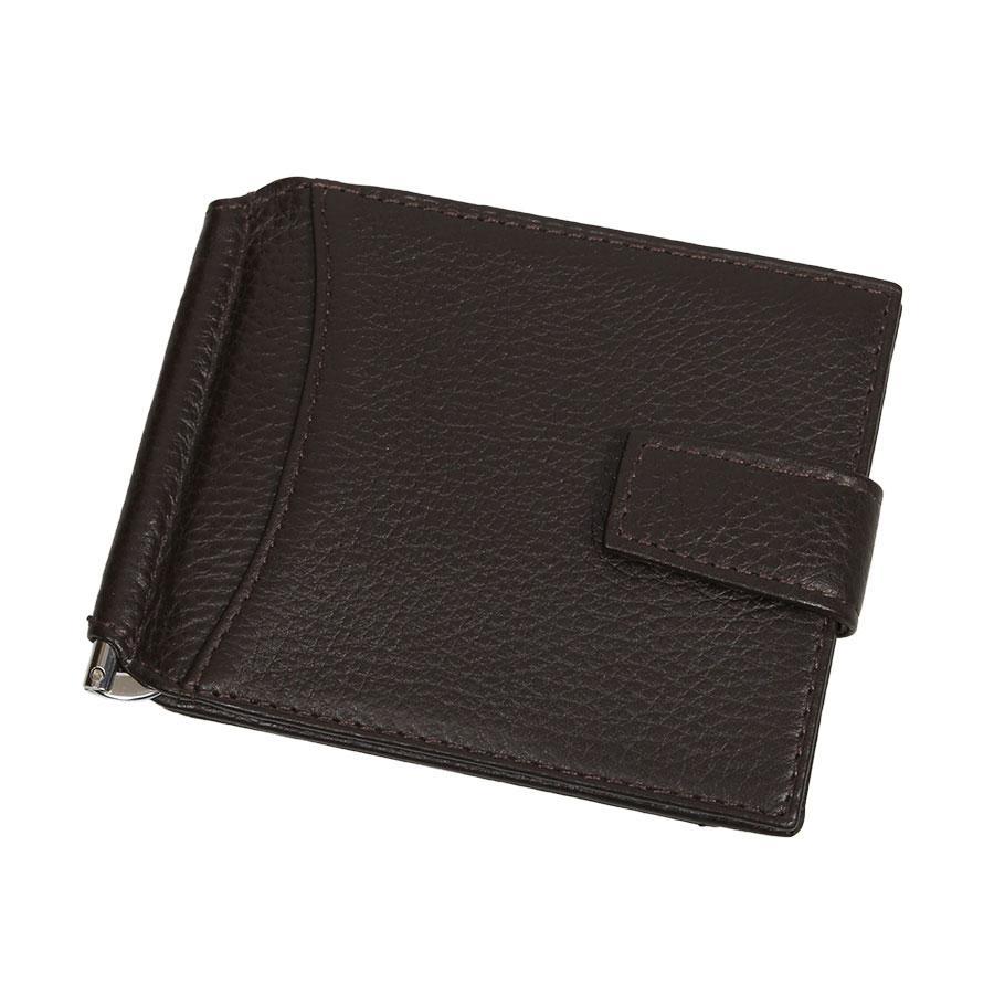 Мужской кожаный кошелек (зажим) Canpellini 075-14 brown