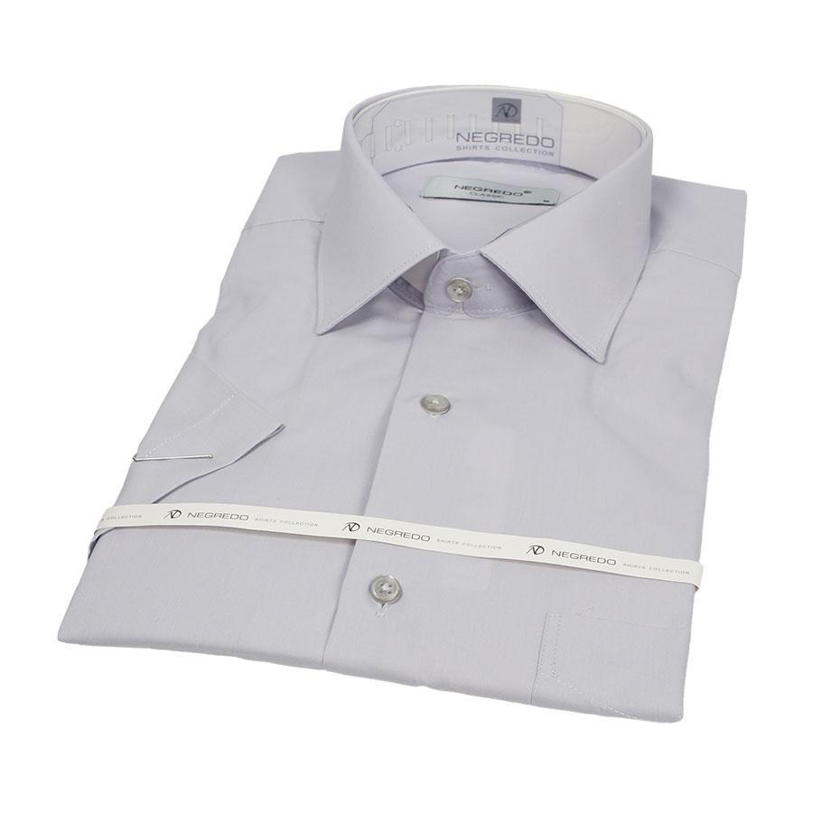 Однотонная мужская рубашка Negredo 31000 Classic