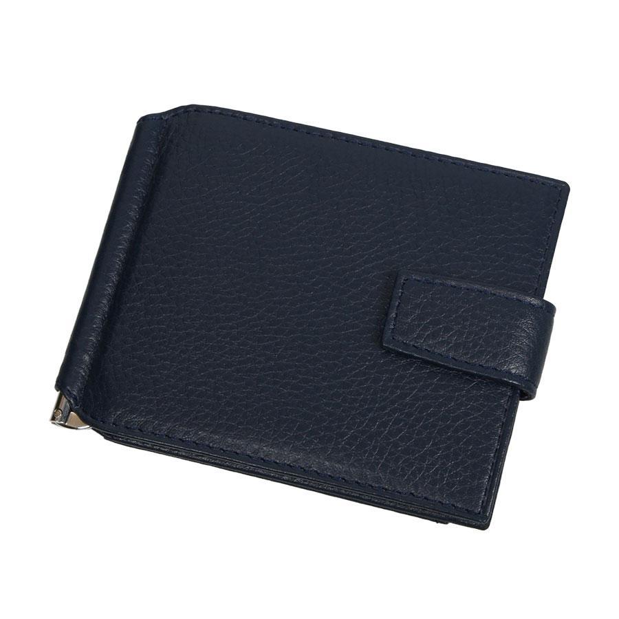 Кожаный мужской зажим для денег Canpellini 074-241 d-blue