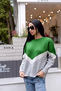 Женский свитер свободного кроя, в расцветках. Ч-1-0819