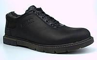 Зимние туфли на меху черные мужские кожаные Rosso Avangard Ragn Asfa Black, фото 1