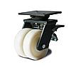 Колеса сдвоенные поворотные 31 36x2 200 ШТ с тормозом в сдвоенном супербольшегрузном кронштейне